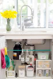 Under Kitchen Sink Cabinet How To Organise Under The Kitchen Sink Cupboard The Organised