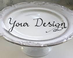 personalized cake plate bespoke cake stand etsy