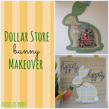 dollar store easter bunny decor average but inspired