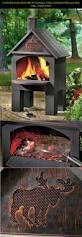 outdoor patio deck fire pit chiminea cabin cooking fireplace bbq