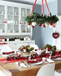 holiday table runner ideas red and white christmas decorations a red and white chandelier a red