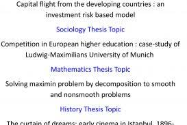 thesis about education in english thesis topic list for computer science topics in child psychology