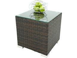 wicker outdoor side table overton outdoor wicker barrel side table