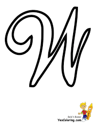coloring page letters alphabet w coloring pages
