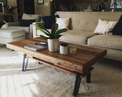 Wood Coffee Table Coffee Table Etsy