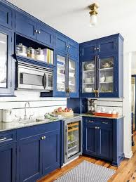 kitchen ideas with blue cabinets blue kitchen cabinets eye catching designs in a variety of