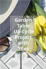 up cycling a garden table the house of british ceramic tile