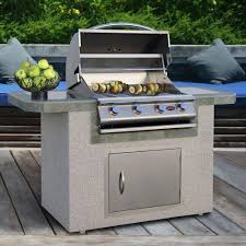 stucco outdoor kitchen island w gas grill online patio store
