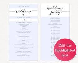 wedding ceremony programs templates wedding program templates wedding templates and printables