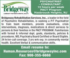Psychiatrist Resume Psychiatrist Consultant Job In Hasbrouck Heights New Jersey