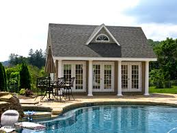 pool houses cabanas pool sheds pool side bars homestead 17 x 20 heritage liberty pool house vinyl siding