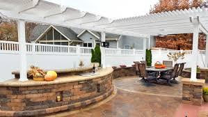 pergola outdoor kitchen forever green iowa city coralville