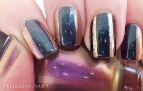 nail design center fledgling nails nail beetle inspired duochrome stripes