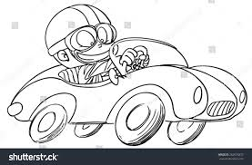 kid car drawing young kid driving race car stock vector 262676870 shutterstock