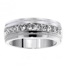 mens white gold diamond wedding bands 1 to 1 5 carats men s wedding bands groom wedding rings for less
