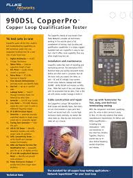 atec fluke 990dsl user manual 12 pages