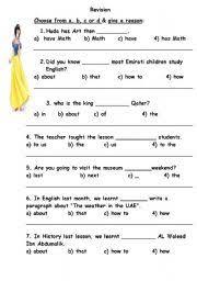english worksheets revision grammar grade 8