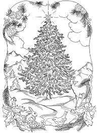 coloring pages christmas trees elegant free christmas