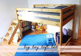 Wooden Loft Bed Diy by Ana White Big Boy Toddler Loft Bed Diy Projects