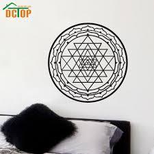 Om Wall Decal Mandala Vinyl by Aliexpress Com Buy Sri Yantra Wall Stickers Mandala Removable