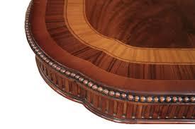 narrow formal mahogany dining table with leaves seats 10 12 narrow regency style inlaid mahogany dining table with leaves seats12