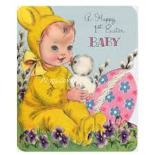 baby s easter 1 a digital image from a vintage greeting card