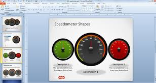 speedometer powerpoint template powerpoint tutorial 13 make an