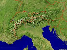 The Alps On World Map by Primap National Maps