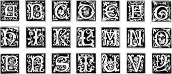 clipart decorative letter set