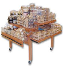 Muffin Display Cabinet Bakery Displays Refrigerated Case Pastry Shelves