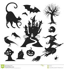 witch silhouette clipart halloween vector pack vector elements vectorvice 11 eps files a