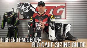 high end motorcycle boots high end race boot big calf sizing guide from sportbiketrackgear