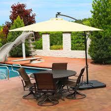 Threshold Offset Patio Umbrella Patio Ideas Allen Roth Offset Patio Umbrella With Base Offset