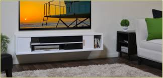 wall mounted media cabinet decor with white modern media