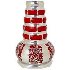 Vintage Orange Glass Vase Vintage Silver Overlay Orange Glass Vase