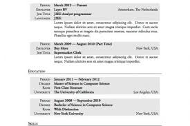 Resume Template Usa Sle Resume High No Work Experience Resume