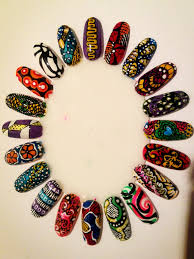 west african print nail wheel nails pinterest manicures