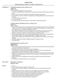 business travel consultant resume samples velvet jobs