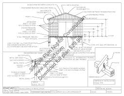 20 u2032 x 20 u2032 pole barn plans sds plans