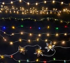 snowflake string of lights vintage snowflake string light pottery barn