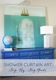 diy shower curtain art house of jade interiors blog