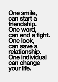 one smile can start a friendship quotes sayings pictures the