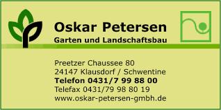 garten und landschaftsbau kiel petersen gmbh oskar in klausdorf branche n garten und