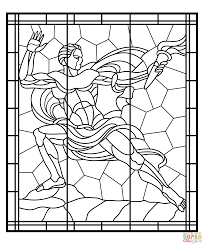 stained glass from veletrzni palace in prague coloring page free