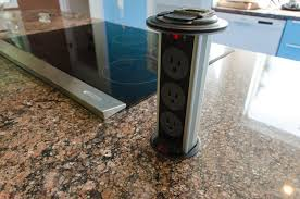 kitchen island outlet new pop up electrical outlets for kitchen islands taste