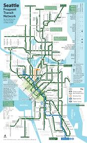 Portland Light Rail Map by Seattle Frequent Transit Map