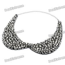 collar necklace silver images Fashion crystals collar necklace black silver free shipping jpg