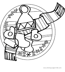winter color coloring pages kids holiday u0026 seasonal