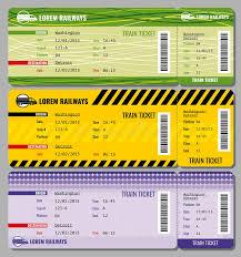 travel tickets images Train vintage travel tickets vector set stock vector jpg