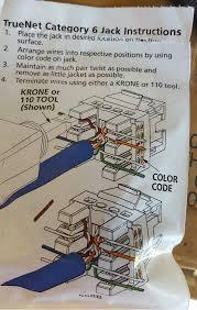adc krone cat6 rj45 keystone outlet purple punch down jack lot of